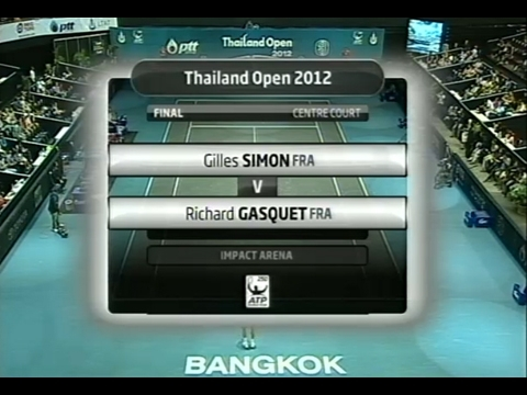 Thailand Open 2012 -Gilles SIMON vs Rich - Eazy FM